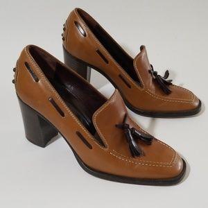 Tod'sTassle high Heel Block Shoes